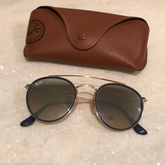 Ray-Ban Accessories - Ray Ban Round Double Bridge Remix Blue